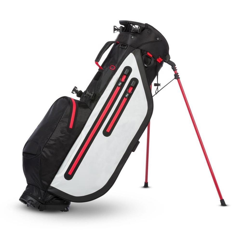2020 Black/White Customized Waterproof Golf Stand Bag with Durable Stand Leg
