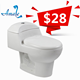 wholesale siphonic corona style south american siphonic cheap one piece toilet #8623