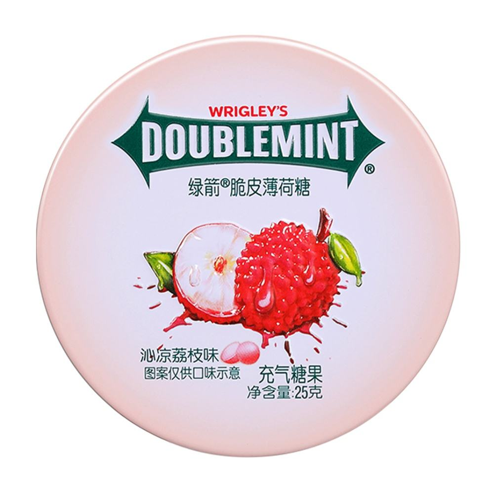 Mint And Fruity Flavor Crispy Center Filled Chewing Gum Crispy Lychee Flavor 25g