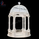 Garden White Marble 6 Columns Gazebo With Metal Roof