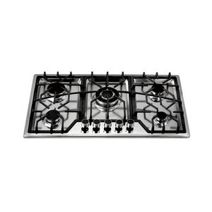 2017 Hot selling 5 burners S/S build in gas stove/gas hob/gas cooker