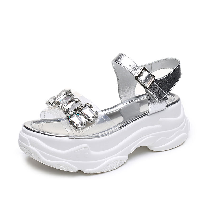 New models platform outdoor white fashion eva summer thick sole shoes women heels sandals casual export european