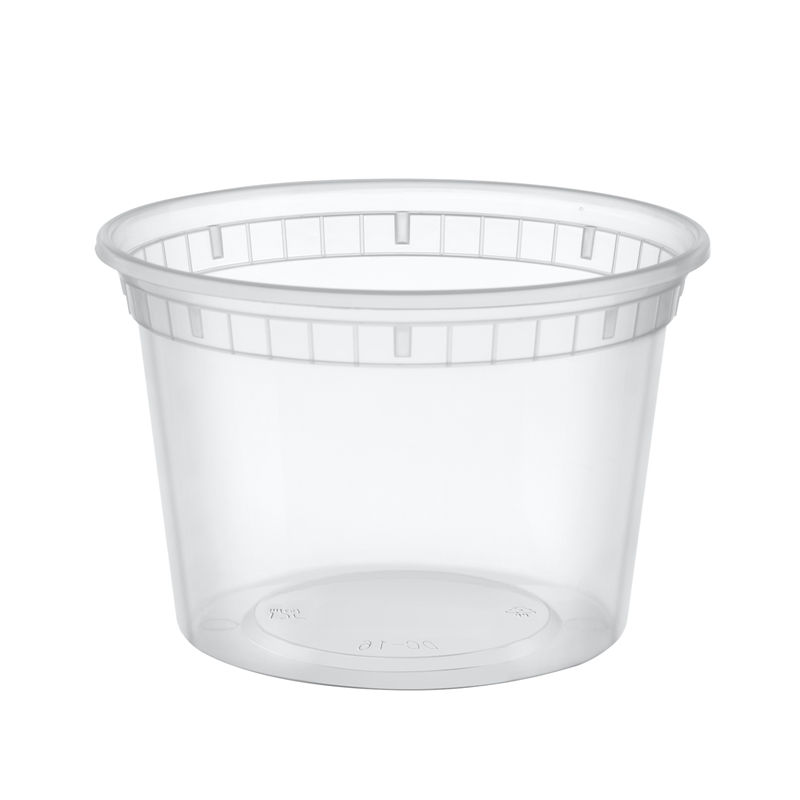 Disposable Plastic Fast Food Take Away Container Soup Bowl Salad Cup With Lid
