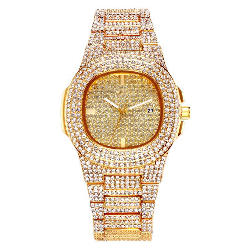 2019 hot sell luxury ,fashion ,top grade with diamond brand stainless steel wristwatch women and men watch