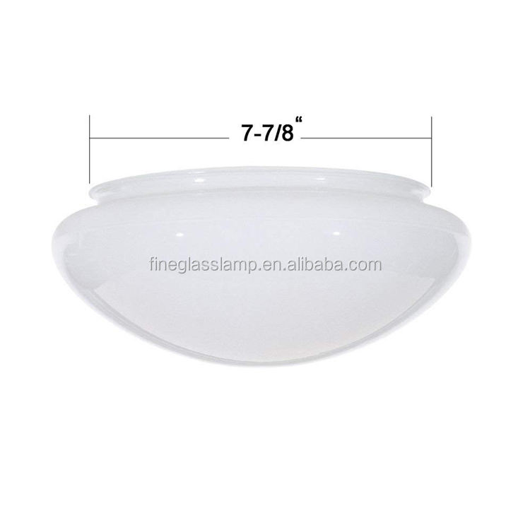 Opal Shiny Mike Wit Glas Paddestoel Plafond Lampenkap Verlichting Cover