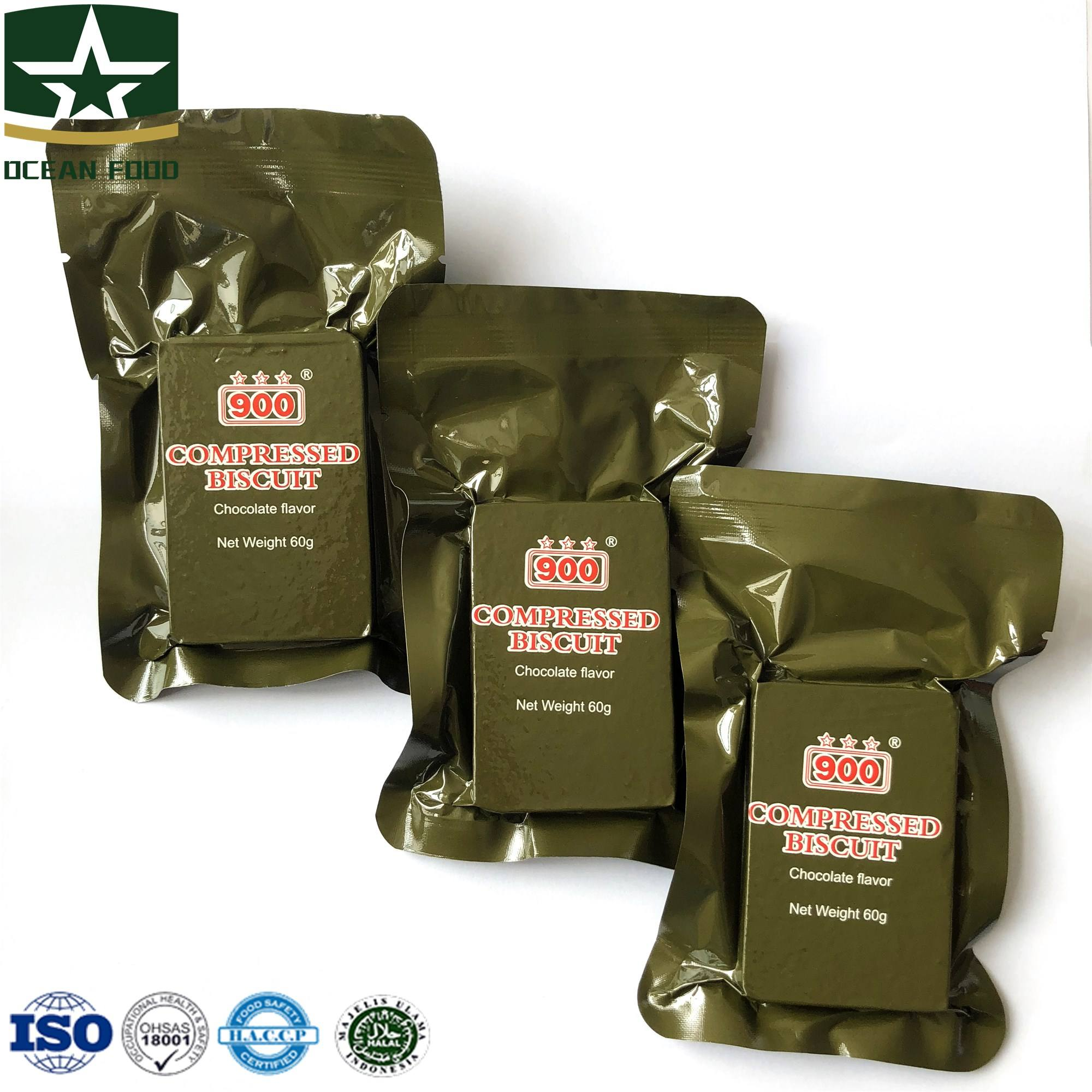 Military MRE Energy Food Compressed Biscuits
