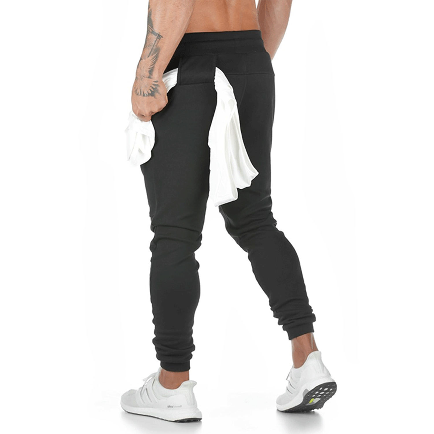 Wholesale Custom Cotton Sport Premium Jogger Sweatpants Slim Fit Pants With Towel Hanging