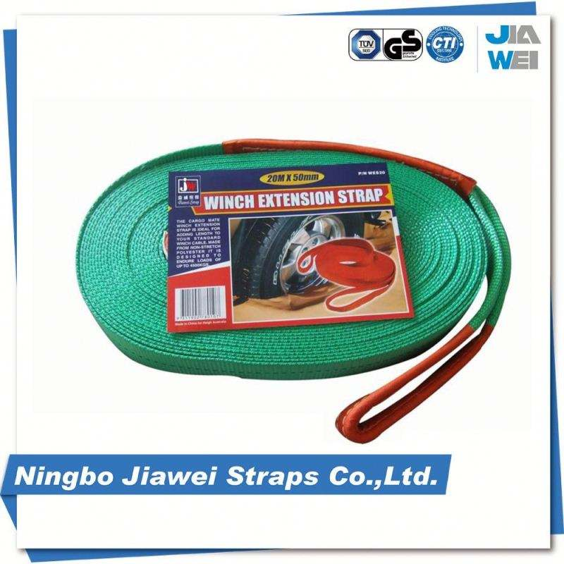 WLL 6 T Mesin Putaran Polyester Anyaman 1 Ton PES Lifting Sling Belt Type Wire Rope Sling Assembly