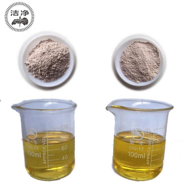 Olio campione gratuito Argilla attivata raffinata Tonsille Terra sbiancante Bentonite Prezzo Terra più piena per vino e succo ra