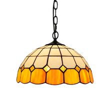 12 inchg Tiffany stained glass retro Restaurant Bar Cafe corridor light  Modern simple yellow children's pendent lamp