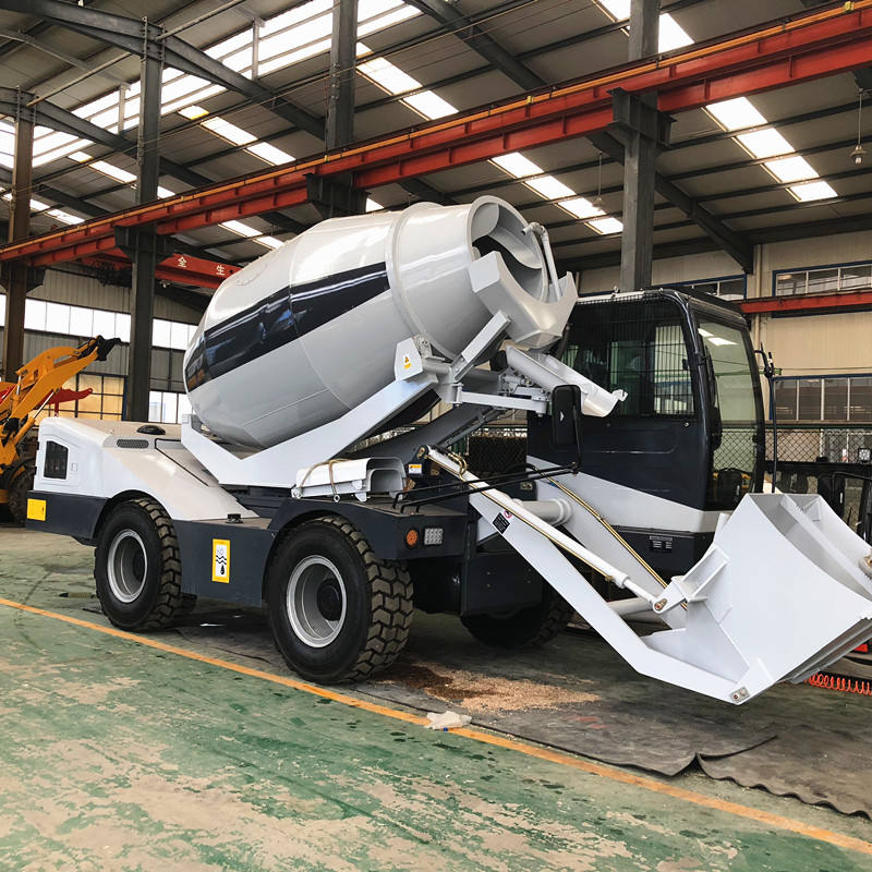 High Operating Efficiency [ Mixer Truck ] 4m3 Concrete Mixer Truck China Good Quality 4*4 HANK 4m3 Concrete Mixer Truck For Sale