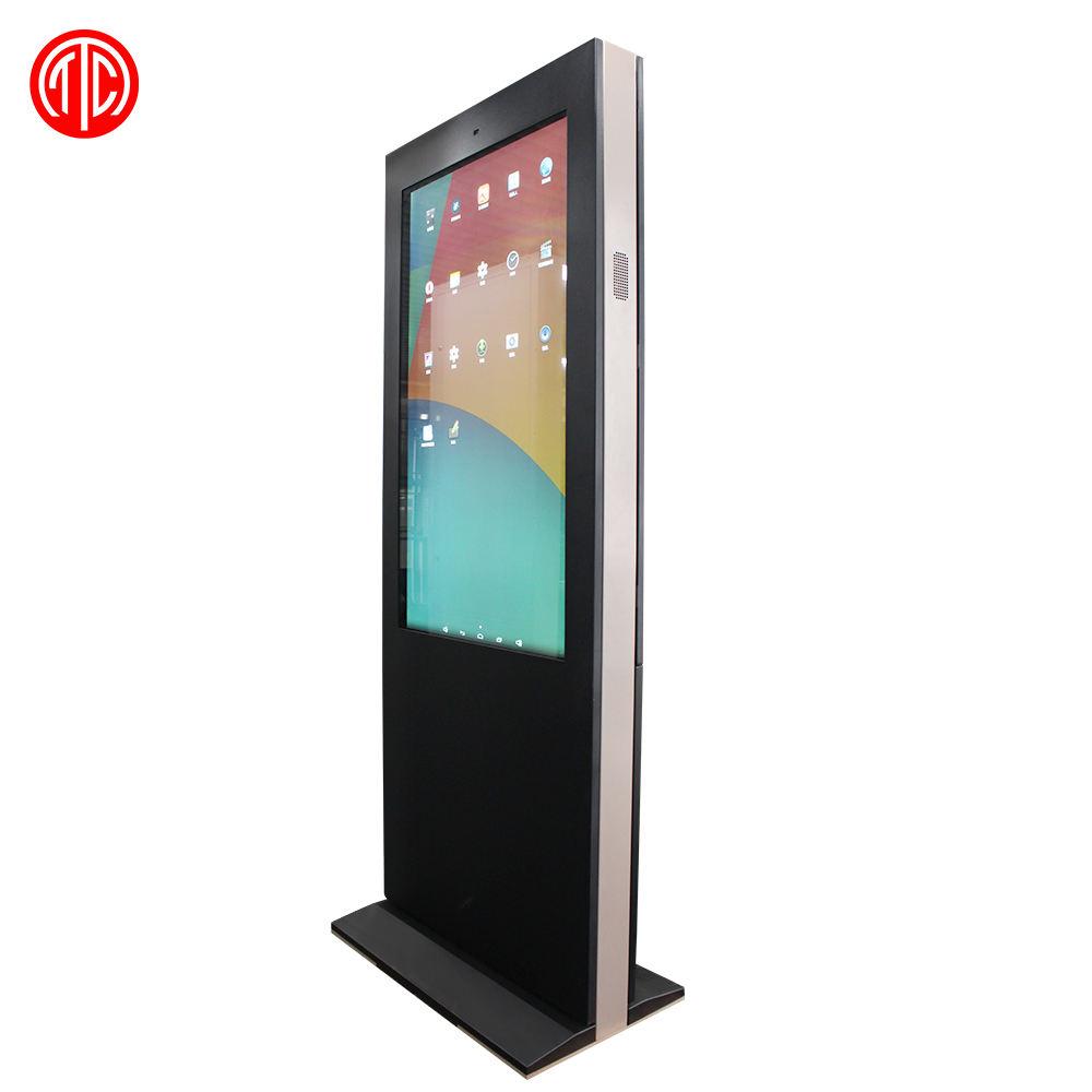 65 pollice IP65 Impermeabile buon sistema di raffreddamento Esterno <span class=keywords><strong>LCD</strong></span> pubblicità Digital Signage con ruote portatile