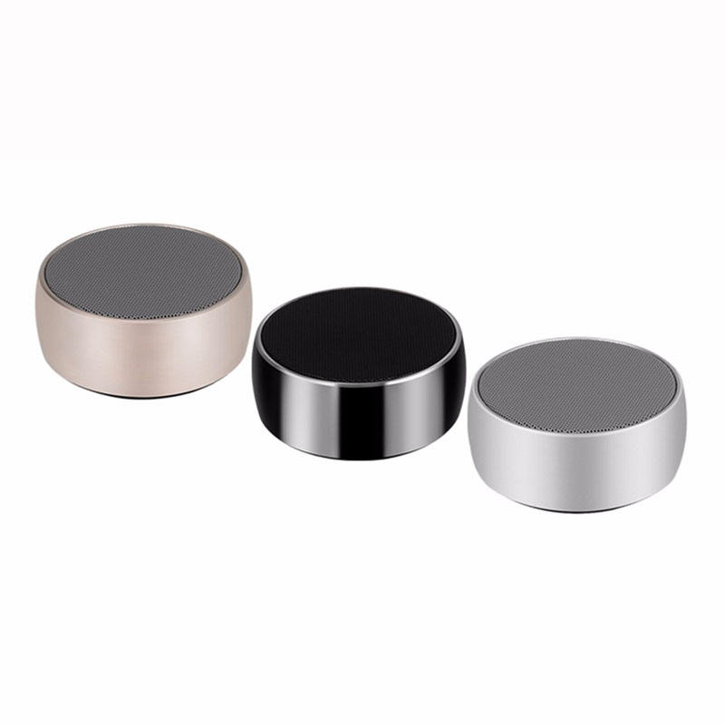 BS01 Metal wireless speakers radio small speakers portable speaker with super bass stereo sounds