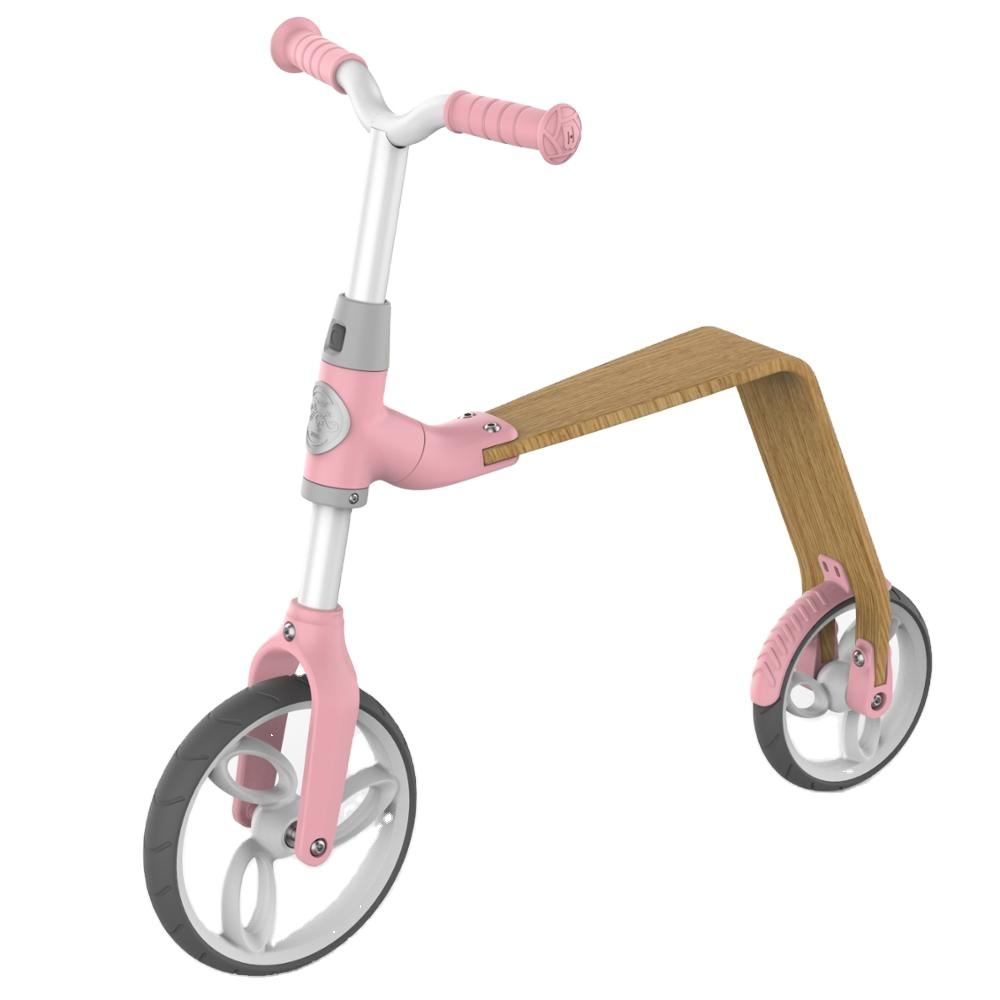 New model kids balance bicycle /Wooden seats kids bicycle three wheel /2 in 1 kids scooter