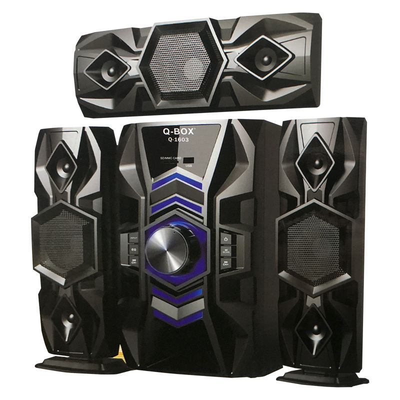 Q-BOX Q-1603 home theater system with remote control fm radio sd usb HI-FI multimedia 3.1 X-BASS hifi speaker