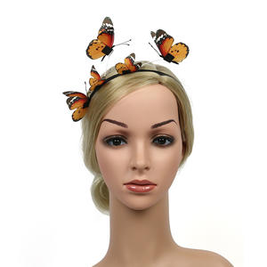 New creative exquisite jewelry three-dimensional forest butterfly headband female holiday party hair accessories