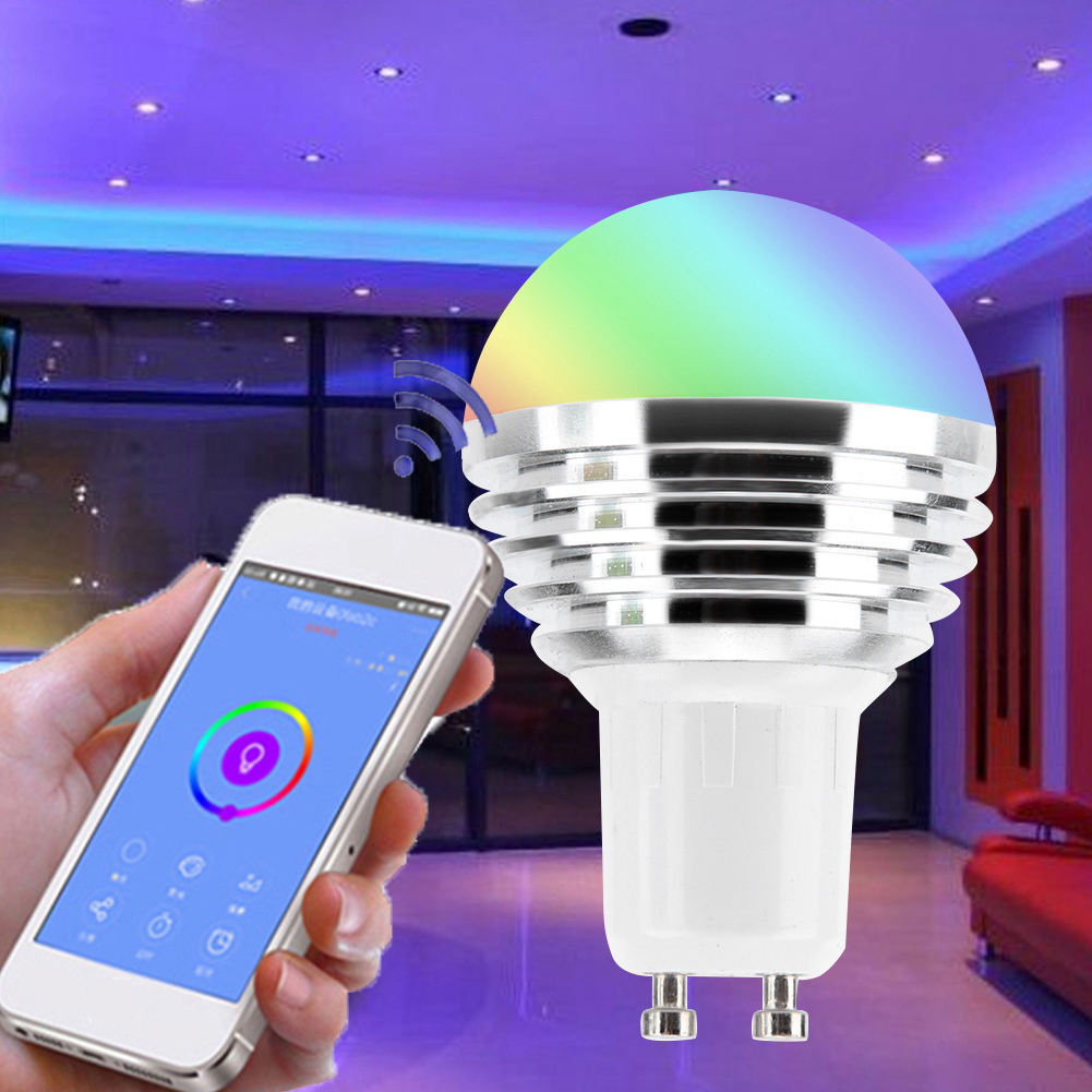 Wifi Smart Led Lamp Compatibel Met Google, <span class=keywords><strong>e27</strong></span> <span class=keywords><strong>E26</strong></span> <span class=keywords><strong>B22</strong></span> Led Rgb Multi Color Dimbare Smart Lamp Alexa Gloeilamp