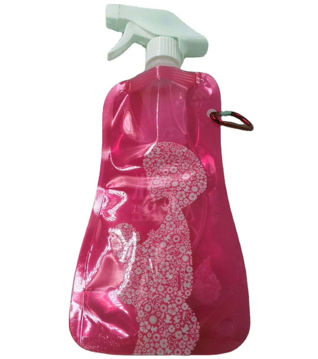 Foldable Water Bag Water Bottles Plastic with Lid Accessories Climbing Sustainable PE Animal