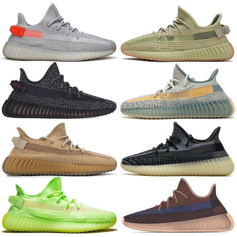 2020 Yeezy 350 New Lace-Up Breathable Casual Luminousรองเท้าและรองเท้าผ้าใบ