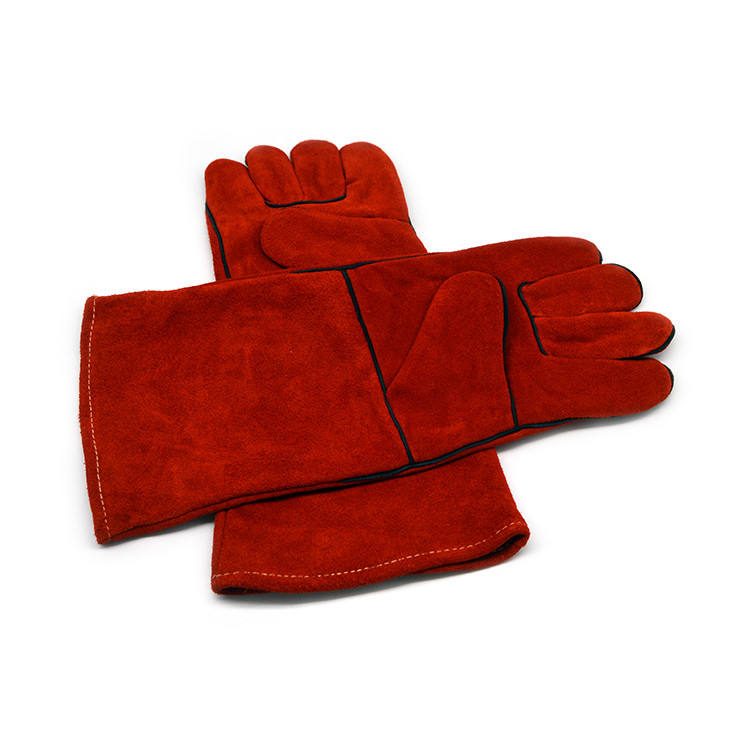 Professional Good Quality Heat Resistant Protective Equipment Leather Safety Welding Working Gloves
