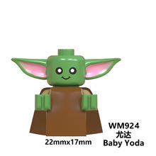 WM924 Baby Yoda Mandalorian Rey Kylo Ren Finn Palpatine Luke Skywalker Chewbacca Sith Jet Troopers Building Blocks Toys For Kids