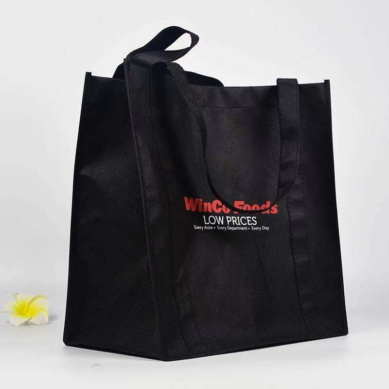Silk screen tote bag printed non wove bag 80gsm reusable shopping bag