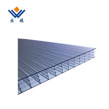 Greenhouse Polycarbonate Hollow Sheet Twin Wall Plastic Board For Bus shelter, Canopy, Carport, Roofing, Sun Shade