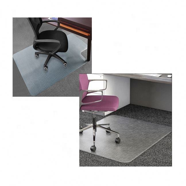 Easy Glide Transparent Mats For Chairs Plastic Custom Office Chair Mat For Under Rolled Chair Hardwood