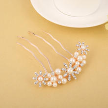 New Trendily Factory Cheap Wholesale Alloy Diamond Pearl Hair Accessories Hair Clips