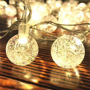 Solar Powered Outdoor String Light 20ft 30 Led Fairy Bubble Crystal Ball Holiday Party Decoratie Verlichting