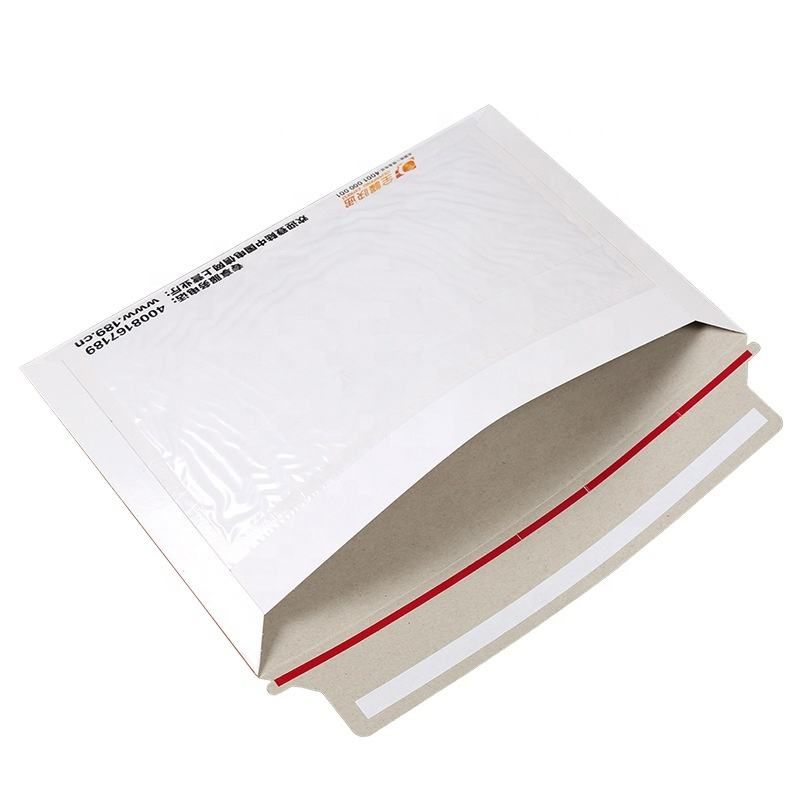 Ready To Ship Wholesale A4 A5 Stay Flat Cardboard Card Mailer Rigid Paper Mailer Envelope