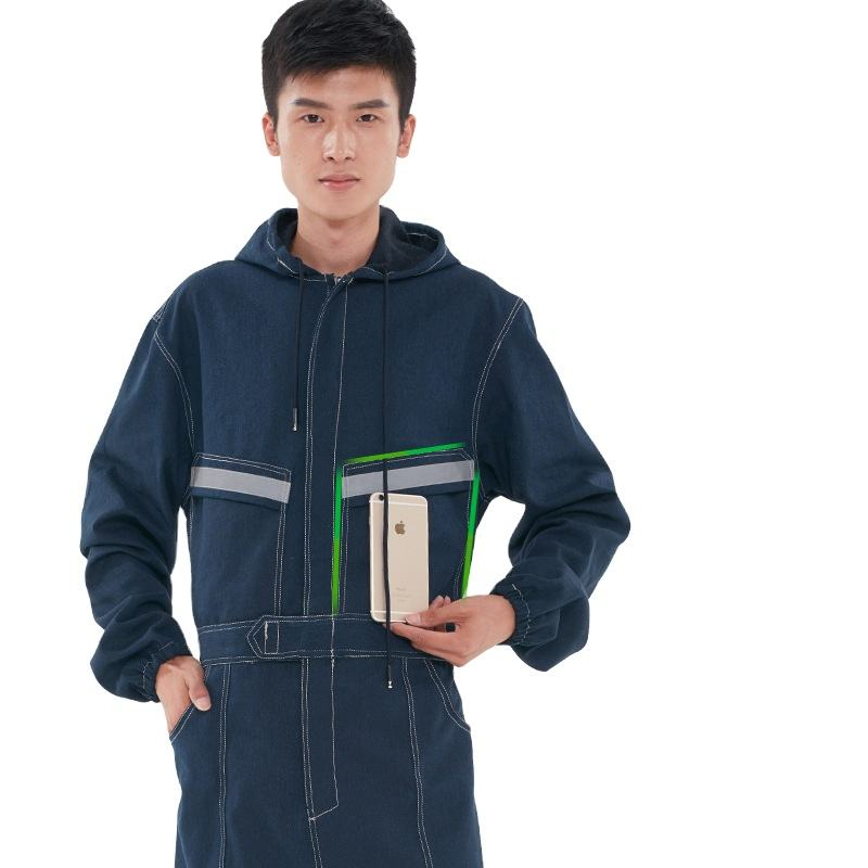 Unisex Denim Uniforms Sets Work Wear Coverall for Men Women