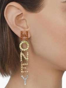 Fashion Letters Honey Pendant Dangle Earrings For Women Ladies Colorful Diamond Rhinestone Drop Earring Jewelry Factory Custom