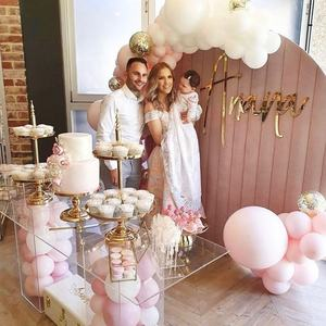 Circle wall pink velvet wall wedding backdrop round backdrop party