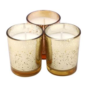 personalised fragrant fancy birthday votive wedding home perfumed lemongrass colored glass natural organic wax candle