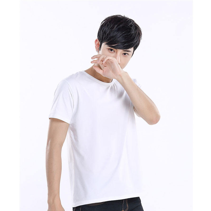 O-neck Short Sleeve White Modal Polyester Sublimation Tshirt Blank Men Tshirts for Promotion Gifts Sublimation
