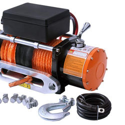 12V Synthetic Rope 13000lb 5Ton Car 4x4 ATV Power Off Road Pull Winch Machine Remote Electric Winch China
