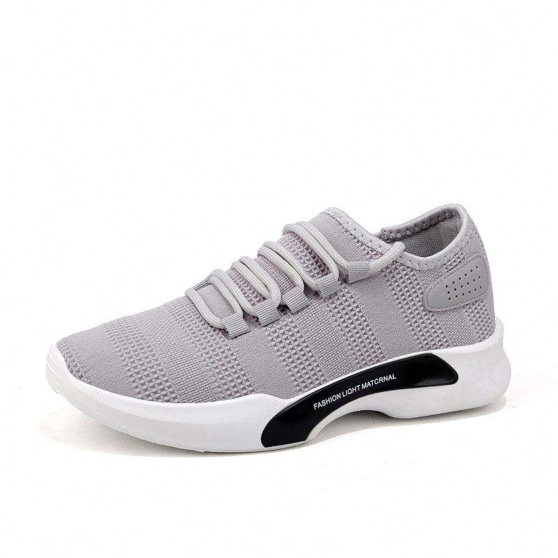 Lightweight Athletic Tennis Running Casual Sport Walking Men Yeezy Sneakers Knitted Fabric Shoes