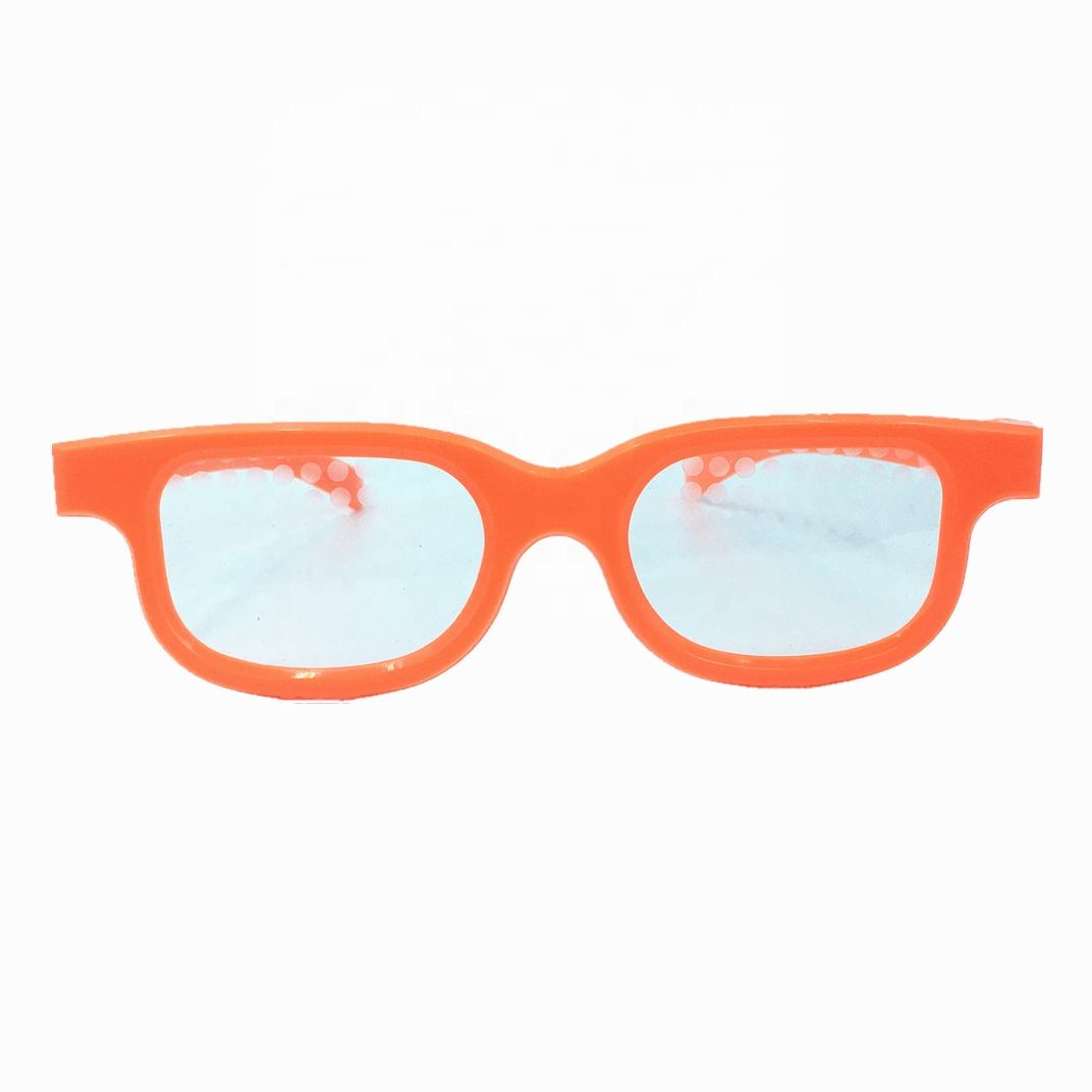 Fast Delivery 3D Christmas Light Diffraction Glasses Plastic