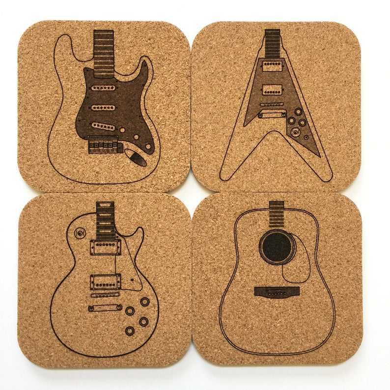 Custom Made Cork Board Drink Coasters Bulk Square Mats Cork Sets with Custom Package