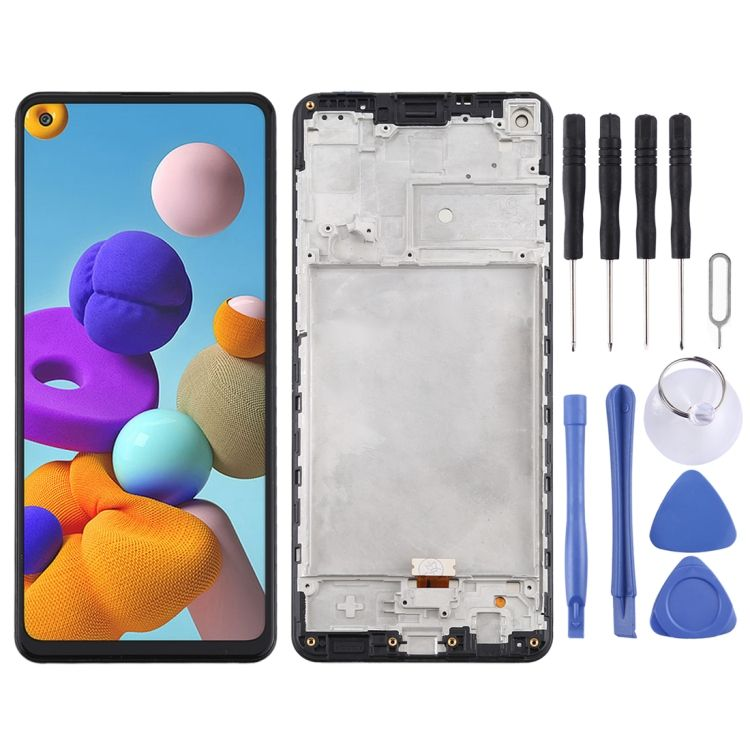 Wholesale Price LCD Screen and Digitizer Full Assembly With Frame for Samsung Galaxy A21s / SM-A217