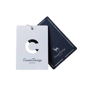 Customized Die Cut Hang Tag Design Clothes Paper Tags With Won Logo