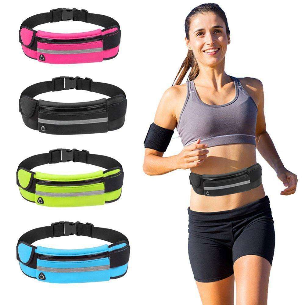 FREE SAMPLE Reflective Neoprene Running Belt Elastic Sport Waist Bag Custom Fanny Pack for Men Women