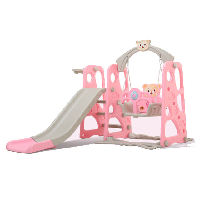 Children small slide indoor plastic slide with swing plastic toys for sale