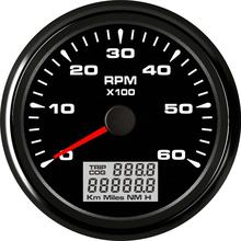 85mm Universal 6000 RPM Tachometer Gauge With 8 Colors Backlight