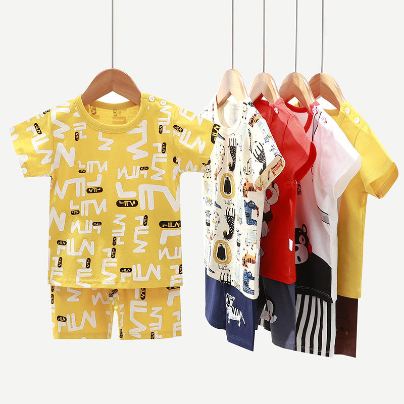 Factory Hot sold kids clothes sets custom manufacturer cotton kids clothes boys