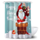 Festival Polyester Digital Printing Snowman Santa anime Classy Christmas 3D Shower Curtain