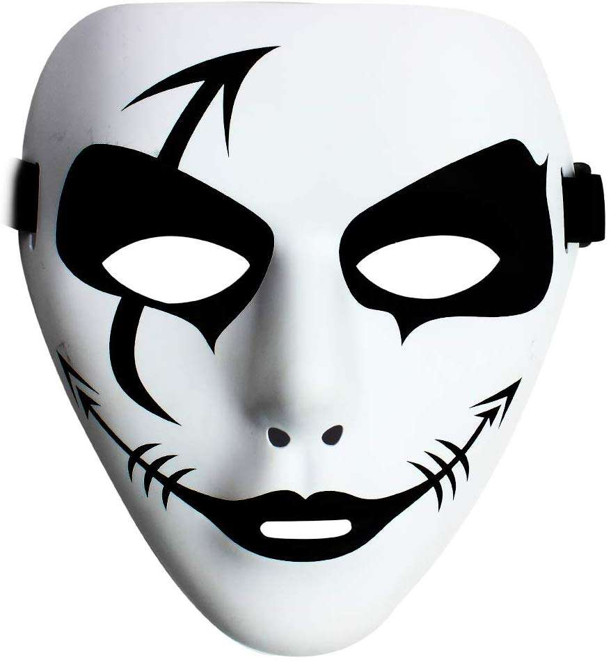 Halloween Masquerade Masks Hip Hop Street Dance Masks Spooky Party Ghost Mask for Halloween Cosplay Performances Prop