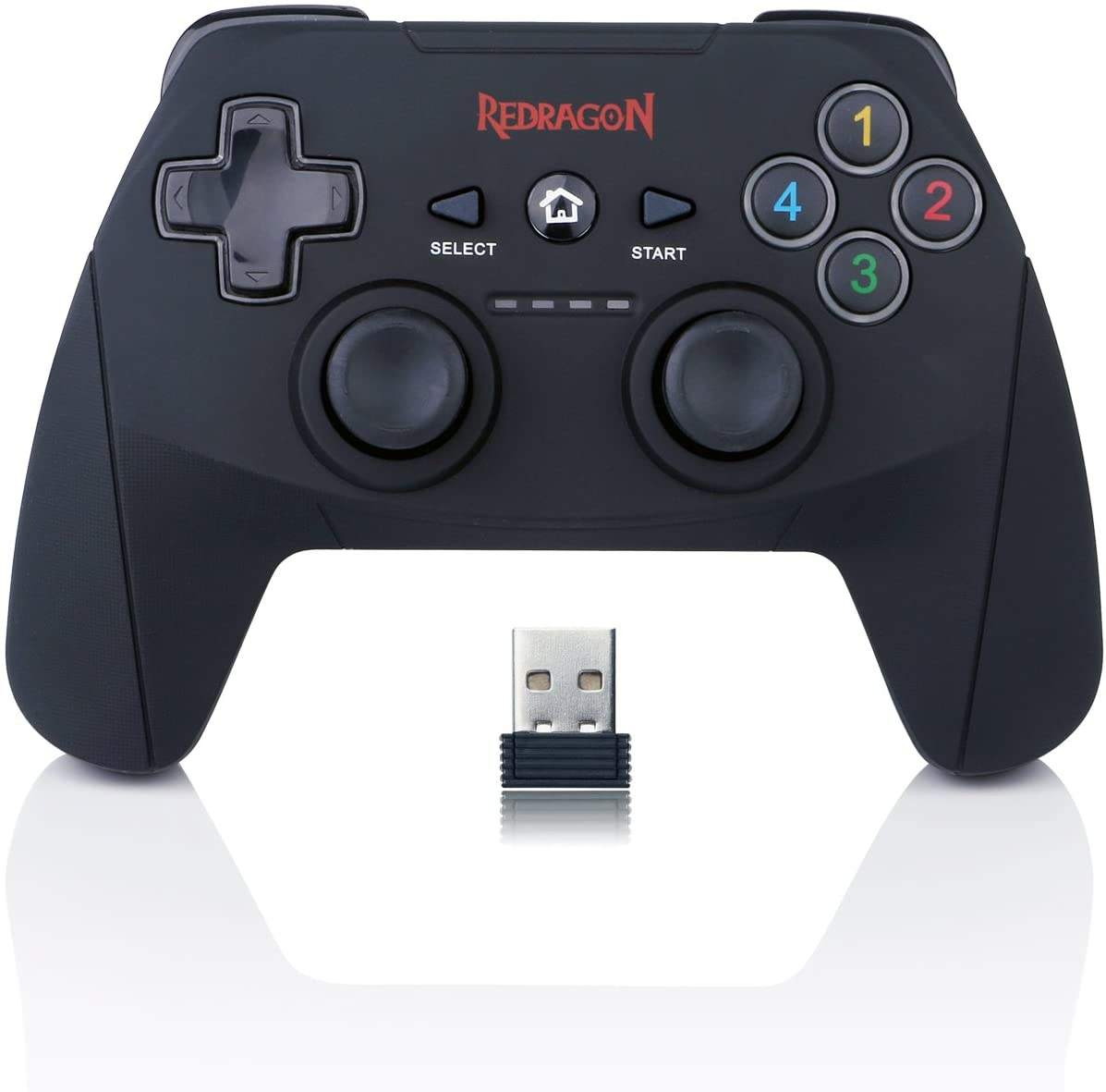 Redragon G808 PC Game Controller Gamepad, Joystick with Dual Vibration, Harrow, for Windows PC, PS3, Playstation, Android, Xbox