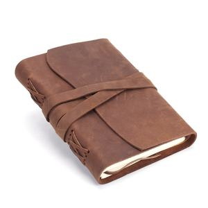 Custom vintage genuine leather diary note book business journal handmade leather notebook
